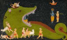 Krishna's Victory Over Aghasura Early 18th century
