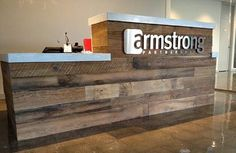 hotel front desk with reclaimed wood - Google Search