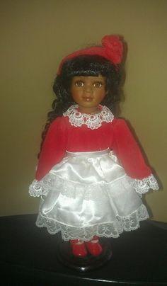 seymour mann porcelain dolls   SEYMOUR MANN BLACK AMERICAN PORCELAIN DOLL