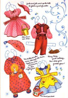 Mother Goose paper dolls.