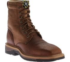 Twisted X Boots Men's Lite Weight Work Boot Safety Toe Peanut  Distressed/Peanut Leather Size 14 D