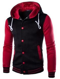 Men's RARE Button Up Hooded Hoodie - Many Colors