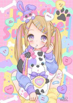 nice Kawaii art by ManaMoko #kawaii #anime #manamoko...