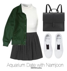"""Aquarium Date with Namjoon"" by btsoutfits ❤ liked on Polyvore featuring Jane Norman, Monki, Brixton, Pierre Hardy and Danielle Foster"