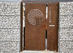 Laser cut street door, front door Garden Entrance, Verona, Door Handles, Doors, Street, Metal, Modern, Design, Home Decor