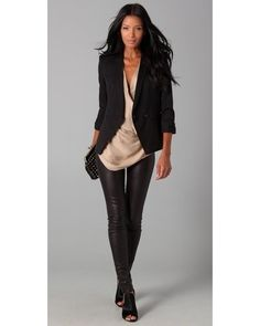 Style Up Faux Leather Leggings