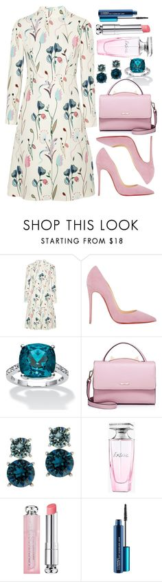 """Untitled #4411"" by natalyasidunova ❤ liked on Polyvore featuring Miu Miu, Christian Louboutin, WithChic, Anne Klein, Balmain, Christian Dior and MAC Cosmetics"