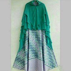 Gamis batik (only gamis tanpa khimar ) Idr. 190.000 Minat pm  WA : 08112753555
