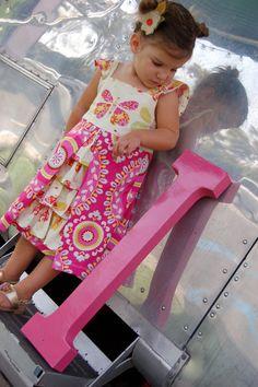 Girl's Dress PDF Sewing Pattern - Pleats and Ruffles  Size 1-5, $7.00