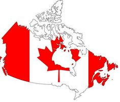 Flag- map of Canada to print on a t-shirt or as a background.Design the flag of Canada.
