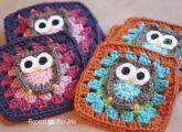 Free Owl Granny Square Crochet Pattern