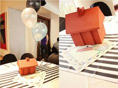 Ross' Monopoly Themed Party – Table centerpiece
