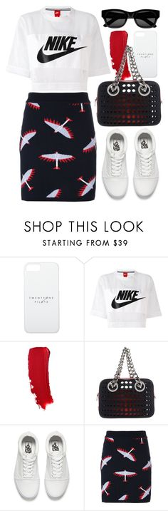 """just do it"" by foundlostme ❤ liked on Polyvore featuring NIKE, Prada, Vans, Maison Kitsuné, Sun Buddies, nike and sportchic"