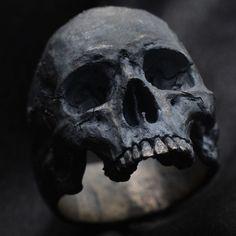 Skull Ring Mid-size half jaw silver mens ring skull biker masonic jewelry 925 eb in Jewelry & Watches, Fashion Jewelry, Rings | eBay