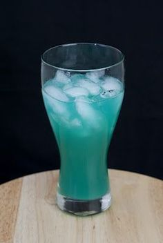 Liquid Marijuana: Malibu Rum, Light Rum, Blue Curaçao, Sour Apple Pucker, Sweet & Sour Mix, Pineapple Juice.