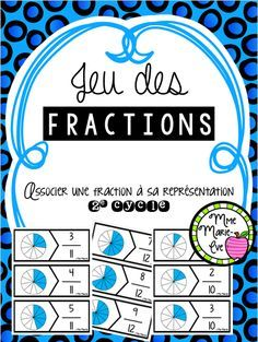 Browse over 10 educational resources created by Mme Marie Eve in the official Teachers Pay Teachers store. Fractions Équivalentes, Montessori Math, Teacher Pay Teachers, Teaching, Education, School, Maths, Stage, Activities