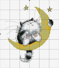 New Embroidery Cat Pattern Watches 25 Ideas Cat Cross Stitches, Cross Stitch Bird, Cross Stitch Animals, Counted Cross Stitch Patterns, Cross Stitch Charts, Cross Stitch Designs, Cross Stitching, Cross Stitch Embroidery, Stitch Book