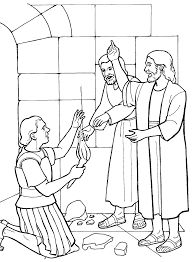 The Lord Speaks To St Paul Catholic Coloring Page Feast Day Is June