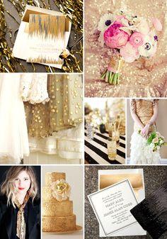 2012 wedding trends: metallic gold | Letterpress wedding invitation inspiration | Bella Figura