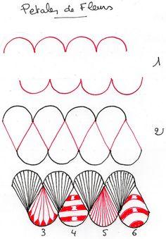 Petales de Fleurs (Freehand Doodle Patterns)