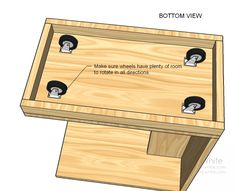plans > Skill Level > Beginner > Free Plans to Build Your Own Rolling C End Table Free Plans to Build Your Own Rolling C End Table by Ana White · 42 comments in Beginner,Modern,Starter Pro…