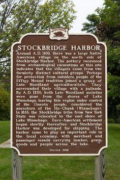 Wisconsin Historical Markers: Marker 416: Stockbridge Harbor
