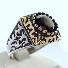 925 Sterling Silver Men's Ring with Onyx Excellent Design