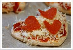 cute!  make our usual pizzas out of tortilla shells, but cut the tortillas and the pepperoni like hearts!!!