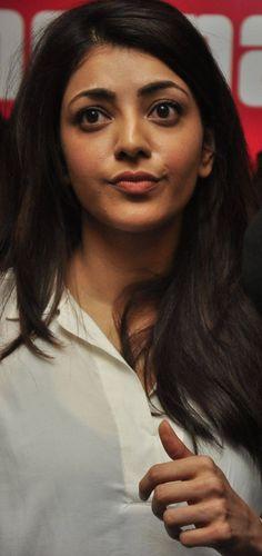 Kajal Agarwal Hot Stills In White Shirt - Tollywood Stars