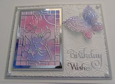 Hi Bloggers.   Here's today's card -     For the background, I embossed a piece of Coconut White Card  with the Creative Expressions Tulip T...