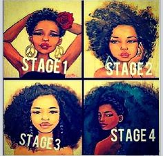 Stages of the natural hair journey