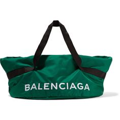 Balenciaga Wheel embroidered shell bag ($855) ❤ liked on Polyvore featuring bags, embroidery bag, draw string bag, balenciaga bag, utility bag and embroidered bag