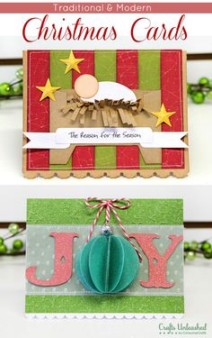 Tutorial | Modern & Traditional Christmas Crafts – Scrap Booking