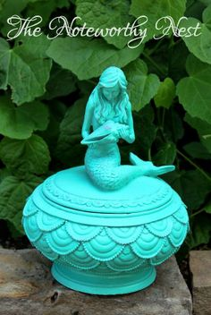 Mermaid decor Mermaid Trinket Box Mermaid by TheNoteworthyNest, $25.99