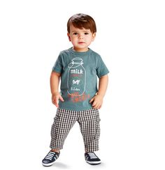 Madras print pants for baby boys - love this look!