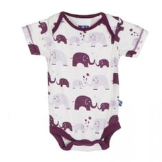 Print Short Sleeve One Piece in Girl Bubble Elephant
