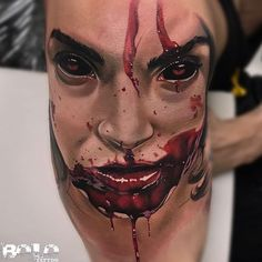 "5,921 Likes, 128 Comments - 🔸BOLO🔸️ (@boloarttattoo) on Instagram: ""gore tattoo in process , I hope you like it. Thanks 💀💉@Fusion_ink @Fusionink_ca #FusionInk @fkirons…"""