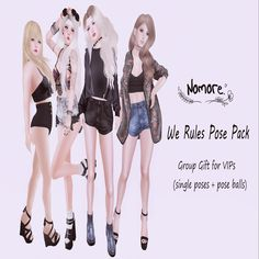 THIRD LIFE [ Frees, Gifts & Hunts ]: NOMORE - WE RULES POSE PACK