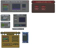 Some unfinished user interfaces by buch415 on DeviantArt
