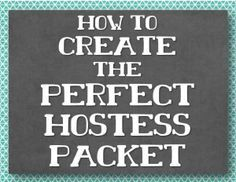 How to create the perfect hostess packet for a direct sales home party