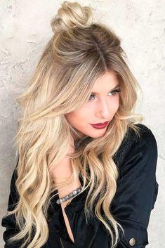 30 Süße Lange Frisuren Für Frauen U2013 Seien Sie Stilvoll Und Strahlend, Mitte  Parted Blonde