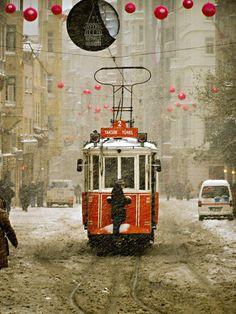 Taksim Square, Istanbul, Turkey                                                tramway @kenia salgado Temiz Ozer Kurt