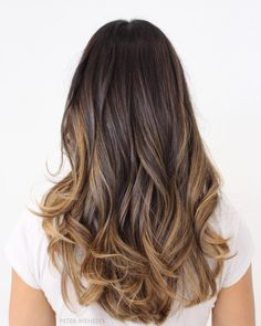 50 Astonishing Chocolate Brown Hair Ideas for 2019 - Hair Adviser Brown Hair Cuts, Brown Hair Shades, Brown Hair With Blonde Highlights, Brown Ombre Hair, Brown Balayage, Light Brown Hair, Brown Hair Colors, Hair Highlights, Blue Ombre