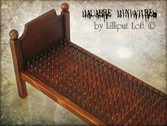 Miniature Bed of Nails Macabre Miniatures Goth by lilliputloft