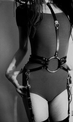 for girl harness, wear leotards underneath