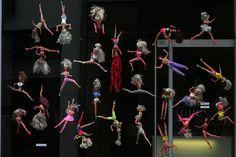 Private Dancer... a hairdresser's window display in Leuven, Belgium