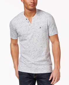 328e8488cef2 INC International Concepts Men's Static Shock Henley, Only at Macy's &  Reviews - T-Shirts - Men - Macy's