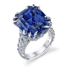 Twelve-Prong Ceylon Sapphire Ring - Omi Privé - Product Search - JCK Marketplace