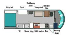 Short Bus 6 Window Conversion Floor Plan Tiny House
