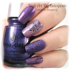 Nail Art by Belegwen: China Glaze LOL & IDK, OPI Can't Let Go